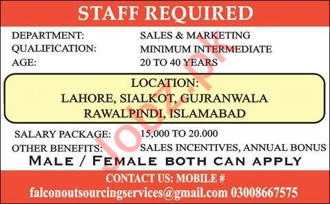 Falcon Outsourcing Services Islamabad Jobs 2020