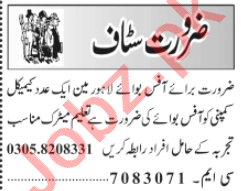 Office Boy & Office Assistant Jobs 2020 in Lahore