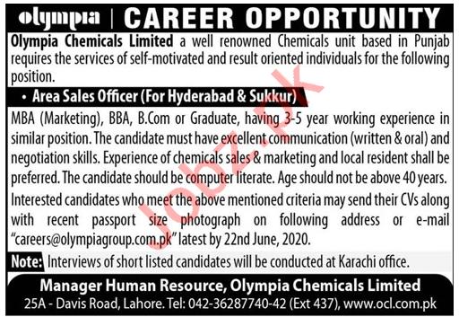 Area Sales Officer Jobs 2020 in Hyderabad