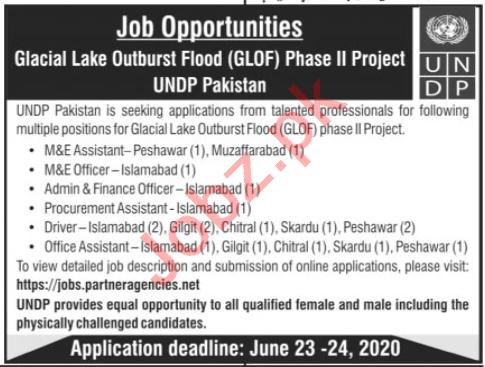 Glacial Lake Outburst Flood GLOF UNDP Project Jobs 2020