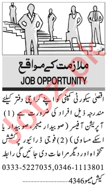 Aqsa Security Services Karachi Jobs 2020 for Security Staff