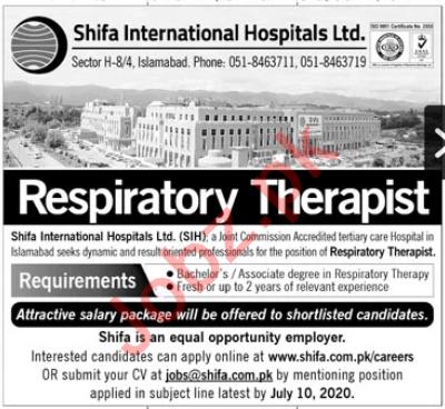 Shifa International Hospital Islamabad Jobs 2020