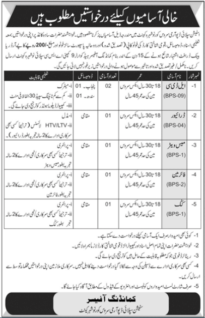 Pak Army Station Supply Depot Army Service Corps Jobs 2020