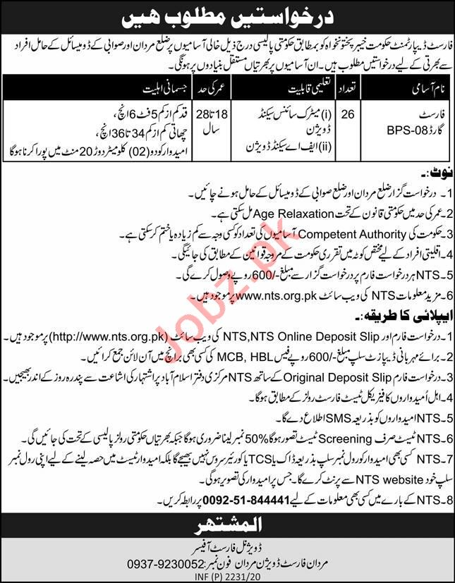 KP Forestry Environment & Wildlife Department Jobs 2020