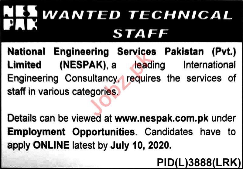 National Engineering Services Pakistan NESPAK Jobs 2020