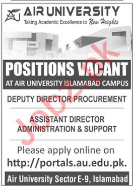 Air University AU Islamabad Jobs 2020 for Deputy Director