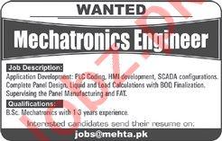 Mechatronics Engineer Jobs 2020 in Mehta Lahore