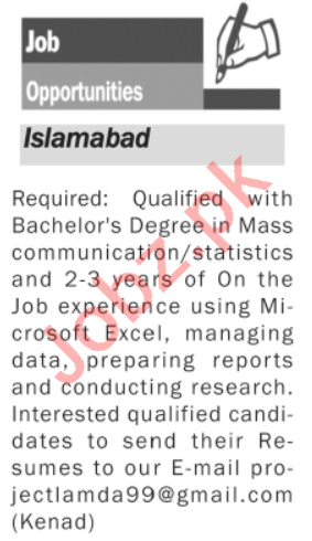 Assistant Manager & News Reporter Jobs 2020 in Islamabad