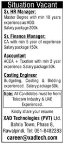 XAD Technologies Jobs 2020 in Rawalpindi