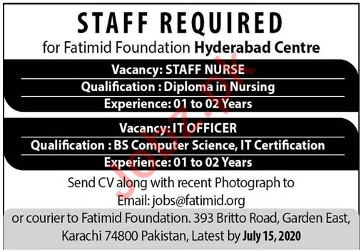 Fatimid Foundation Hyderabad Centre Jobs 2020 for Nurses
