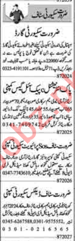 Security Guard & Lady Security Guard Jobs 2020 in Lahore