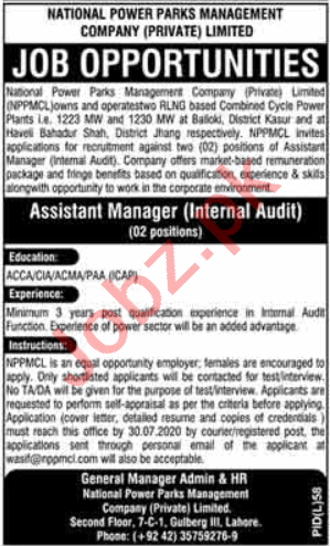 National Power Parks Management Company Manager Jobs 2020