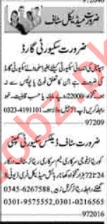 Security Supervisor & Clerk Jobs 2020 in Lahore