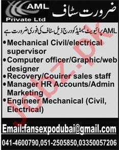 Mechanical Supervisor & Computer Officer Jobs 2020