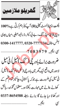 House Staff Jobs Career Opportunity in Lahore 2020