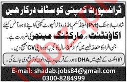 Accountant & Marketing Manager Jobs in Shadab Logistics