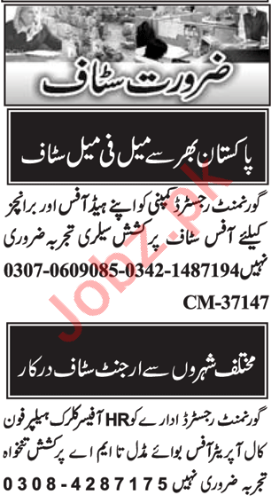 Computer Operator & Account Manager Jobs 2020