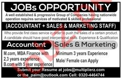 Accountant & Sales Manager Jobs 2020 in Multiplierz Group