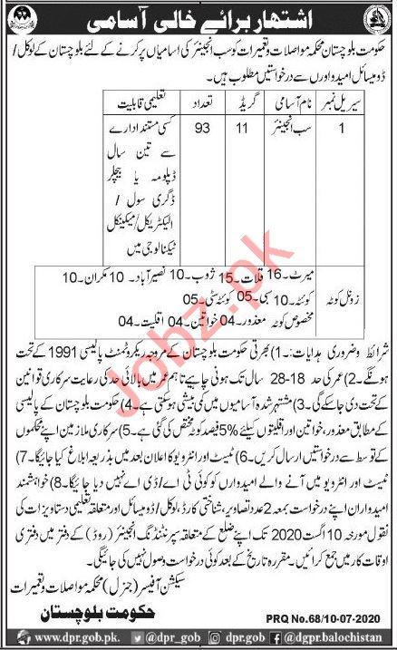 Communication & Works Department Balochistan Jobs 2020
