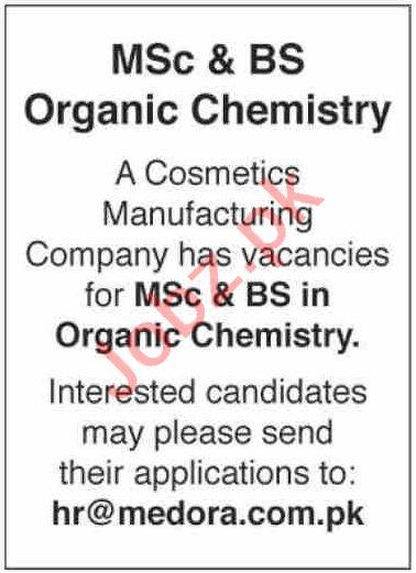 Organic Chemistry Technologist & Chemist Jobs 2020