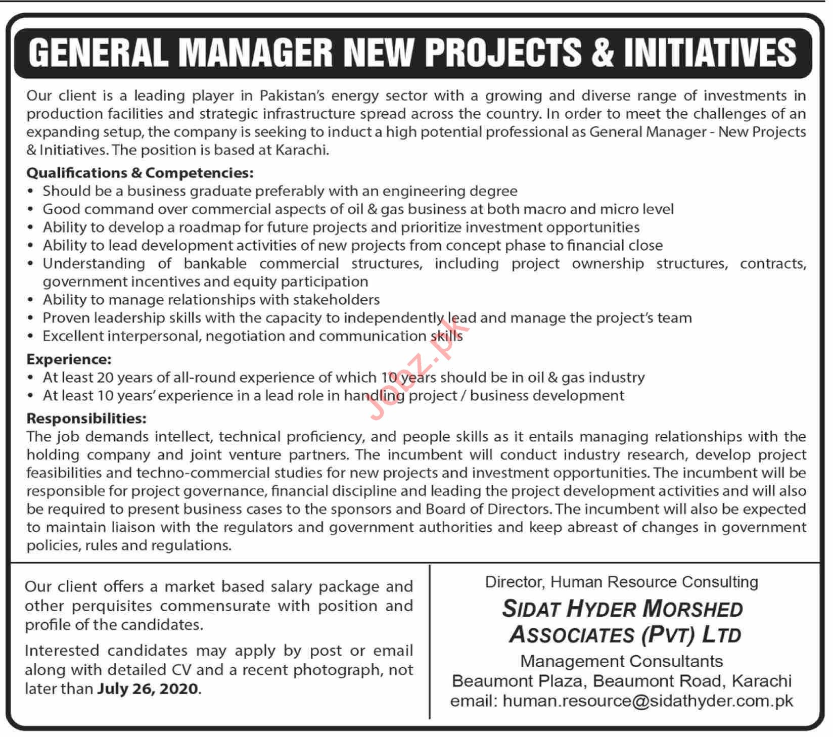 General Manager New Projects & Initiatives Jobs 2020