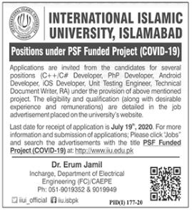 International Islamic University Islamabad IIUI Jobs 2020