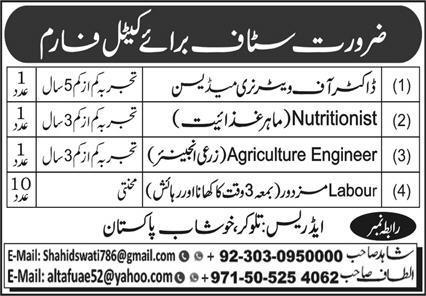 Cattle Farm Jobs 2020 in Khushab