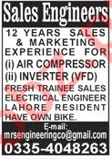 Sales Engineer & Engineer Jobs 2020 in Lahore