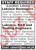 Labview Developers & Testing Engineer Jobs 2020 in Lahore