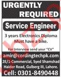 Service Engineer Jobs 2020 in Lahore