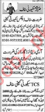 Dunya Sunday Classified Ads 12th July 2020 for Security