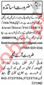 Nawaiwaqt Sunday Classified Ads 12th July 2020 for Teaching