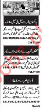 Nawaiwaqt Sunday Islamabad Classified Ads 12th July 2020