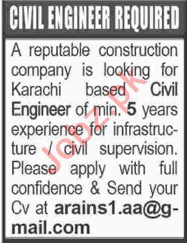 Civil Engineer Jobs 2020 in Karachi