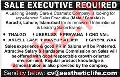 Aesthetic LIFE Lahore Jobs 2020 for Sales Executives