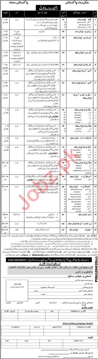 Engineers & Technician Jobs 2020 in Pakistan Mint Lahore