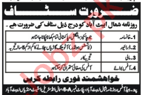Daily Shamal Newspaper Abbottabad Jobs 2020 for Cook