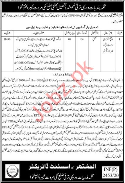 Village Secretary Jobs 2020 in Lakki Marwat