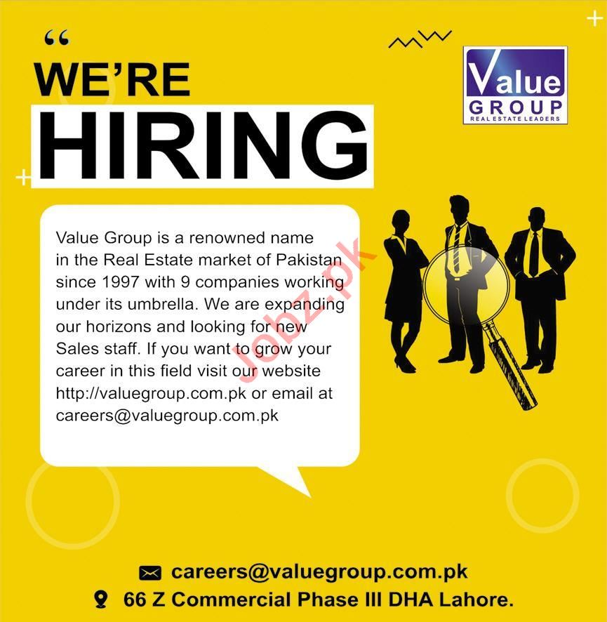 Sales & Marketing Staff Jobs 2020 in Value Group Lahore