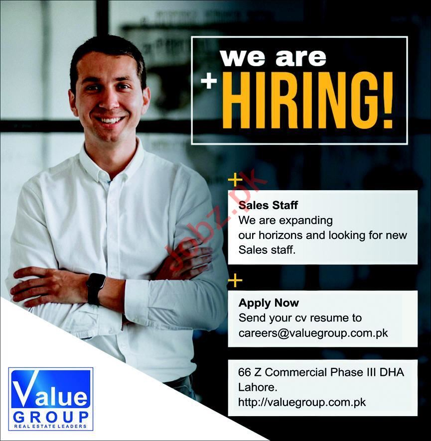 Value Group Lahore Jobs 2020 for Salesman & Sales Officer