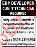 ERP Developer & IT Technician Jobs 2020 in Lahore