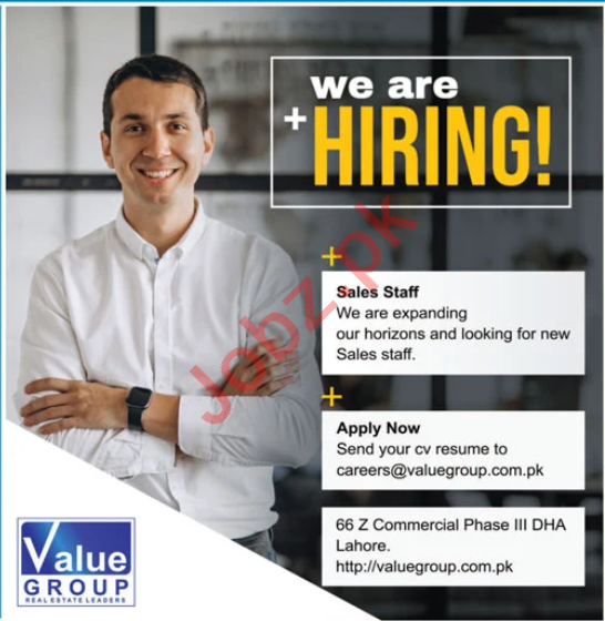 Value Group Lahore Jobs 2020 for Marketing Staff