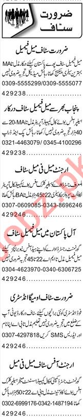 Cashier & Data Entry Operator Jobs 2020 in Lahore