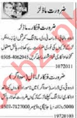 Dunya Sunday Classified Ads 19th July 2020 for Actor & Model
