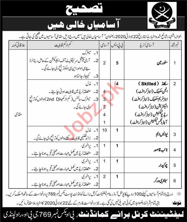 Pakistan Army Rawalpindi Jobs 2020 Mechanic & Electrician