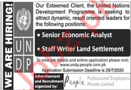UNDP Jobs 2020 for Senior Economic Analyst & Writer
