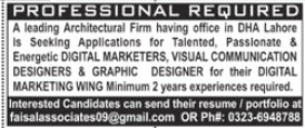 Architectural Firm Jobs 2020 in Lahore