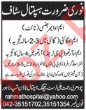 Medical Officer & Gynecologist Jobs 2020 in Lahore
