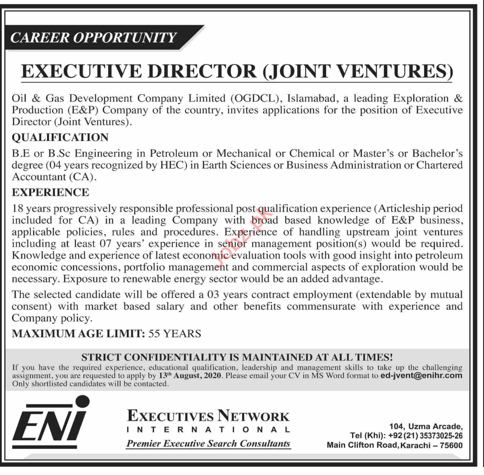 Executive Director Joint Ventures & Engineer Jobs 2020