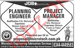 Project Manager & Planning Engineer Jobs 2020